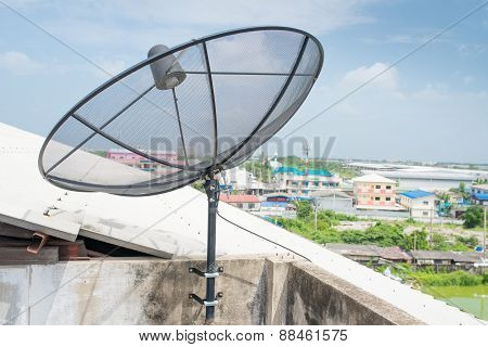 Satellite Dish Sky Communication Technology Network