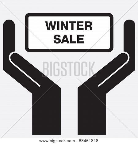 Hand showing winter sign  icon.