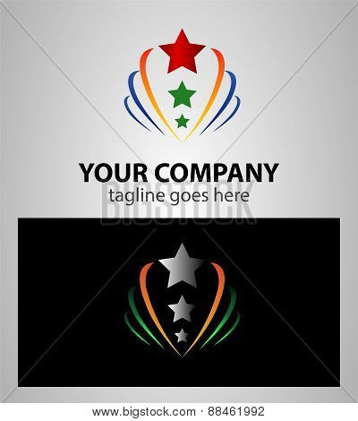 Abstract star growth, sign Branding Identity Corporate logo design template
