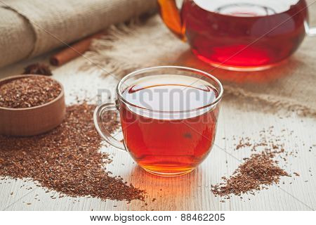 Natural tasty traditional african tea rooibos with antioxidants