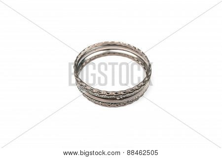Beautiful Bracelets Isolated On White Background