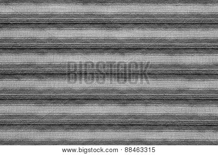 Horizontal Texture Of Striped Fabric Gray Color
