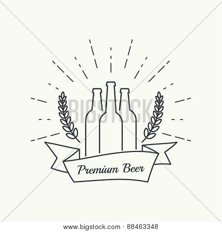 Beer brewery emblems.