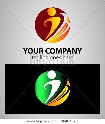 People sign icon. Share symbol. Business abstract circle logo