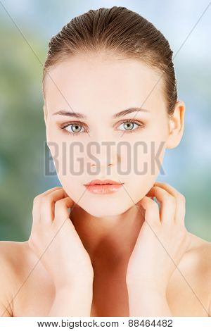 Beautiful spa woman with fresh skin.