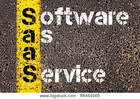 Business Acronym Saas As Software As A Service