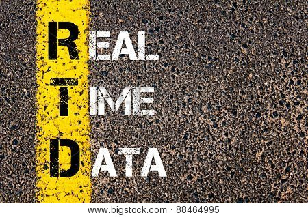 Business Acronym Rtd As Real Time Data