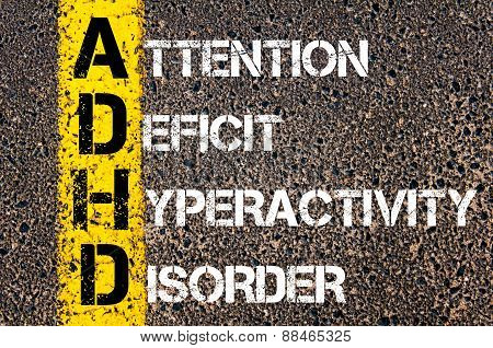 Acronym Adhd As Attention Deficit Hyperactivity Disorder