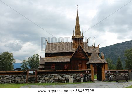 Church in Lom, Norway was build more than 800 years ago.
