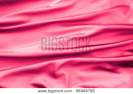 Soft Velvet Piece Of Pink Fabric With Folds