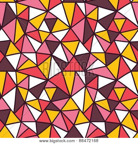 Abstract triangle mosaic pattern