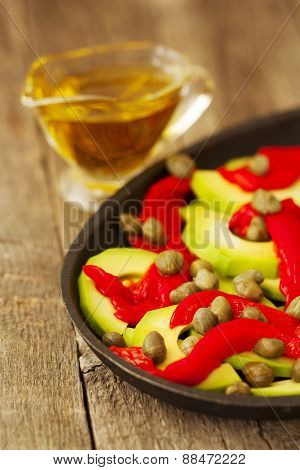 Salad Of Roasted Peppers And Avocado