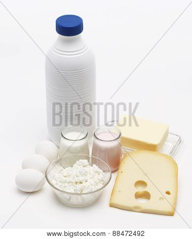 Milk Yogurt Eggs And Cheese