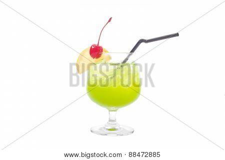 Alcoholic Cocktails Isolated On White Background