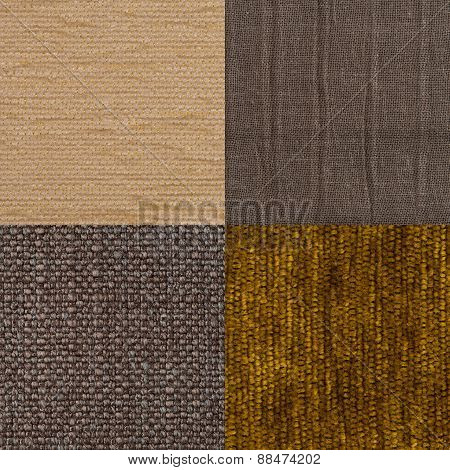 Set Of Brown Fabric Samples