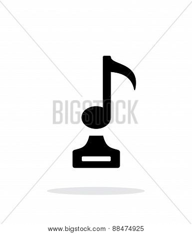 Music simple icon on white background.