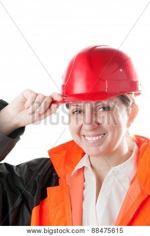 Female industrial worker.