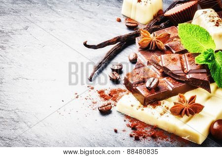 Assortment Of Fine Chocolates And Pralines