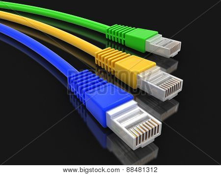 Computer Cables (clipping path included)