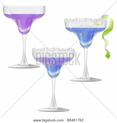 Three Glasses Of Cocktail