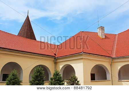 Yard Of Palanok Castle (or Mukachevo Castle, Ukraine, Built In 14Th Century)