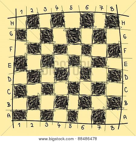 Chessboard drawing