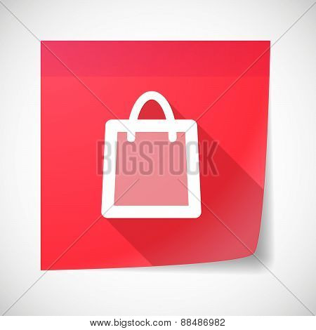 Sticky Note Icon With A Shopping Bag