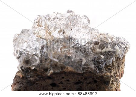 Hyalite Mineral Isolated