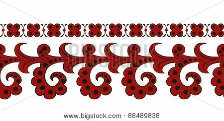 a red ethnic seamless border