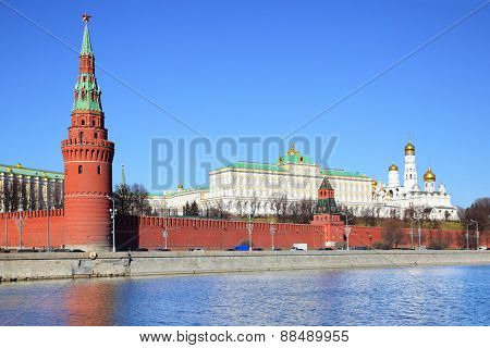 View of Kremlin in Moscow, Russia