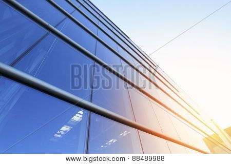 Modern building -  business background with copyspace