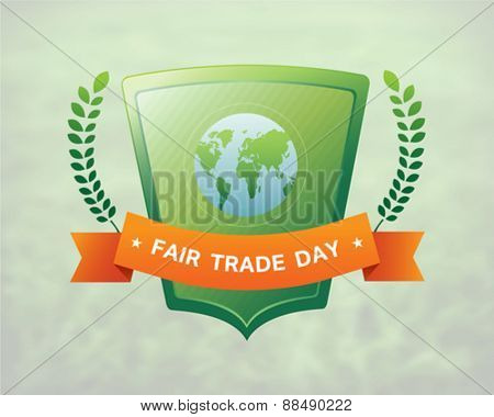 Digitally generated Fair Trade day vector