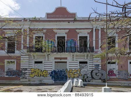 Abandoned Government Building Disgraced By Graffiti.