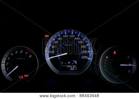 Car Speed Dashboard.