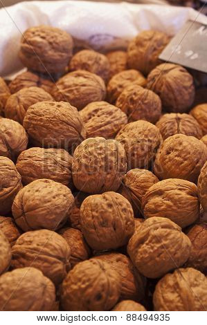 Walnuts In A Market