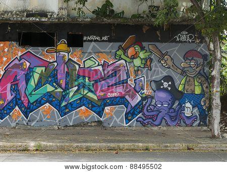 Graffiti Of Pirate Theme.