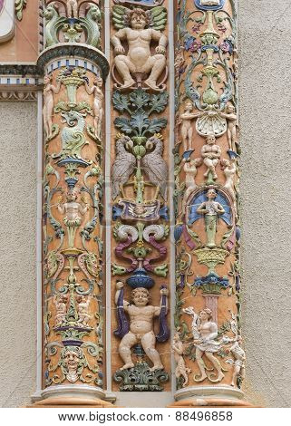 Fragment Of Highly Decorated Entrance At Roosevelt Bell Tower.