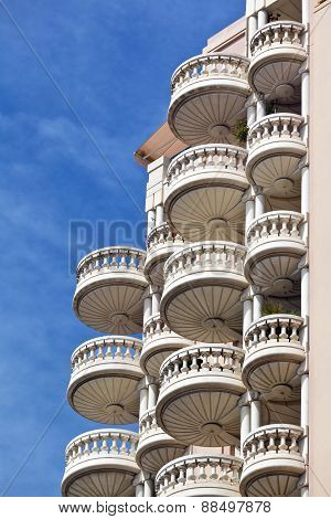 Circular shape designed apartment balcony