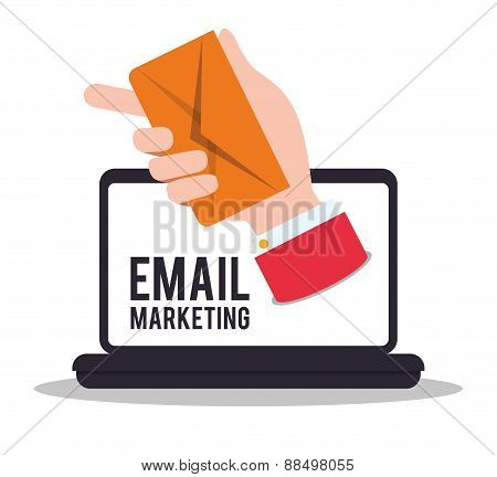Email marketing design icon