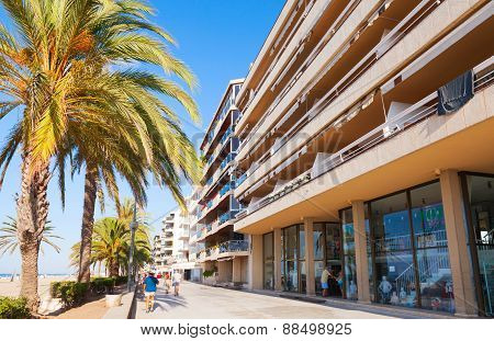 Calafell Town In Sunny Summer Day, Spain
