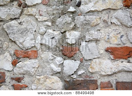 Grunge Old Brick And Stione Wall