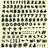 picture of ampersand  - Digits Grunge Digits from chalk and brush strokes - JPG