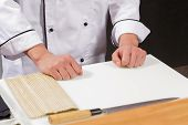 foto of sushi  - Sushi chef at work - JPG