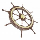 foto of wind wheel  - Ship wheel Isolated on white background - JPG