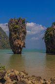 foto of james bond island  - Ko Tapu island in the Ao Phang - JPG