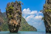 picture of james bond island  - Ko Tapu island in the Ao Phang - JPG
