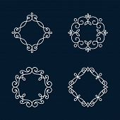 stock photo of monogram  - Monogram frames - JPG