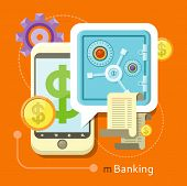 stock photo of electronic banking  - Internet online banking - JPG