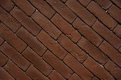 picture of paving  - Old red Brick footpath paving background texture - JPG