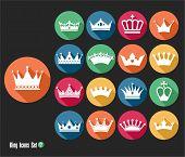 image of crown jewels  - Crowns vintage set - JPG